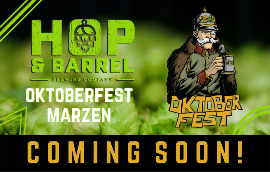 Hop & Barrel Oktoberfest Coming Soon Home Page Banner