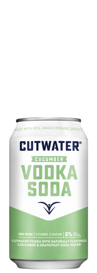 Cutwater Vodka Soda Cucumber
