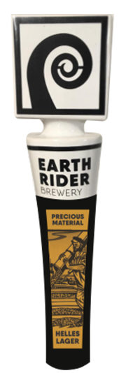 Earth Rider Precious Material Heles Lager has a beverage tapper!