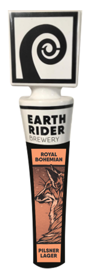 Earth Rider Royal Bohemian Pilsner has a beverage tapper!