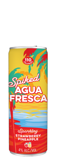 Spiked Agua Fresca Strawberry Pineapple