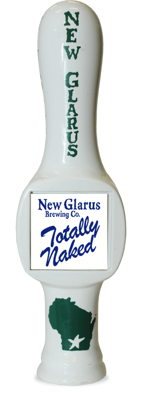 New Glarus Totally Naked has a beverage tapper!