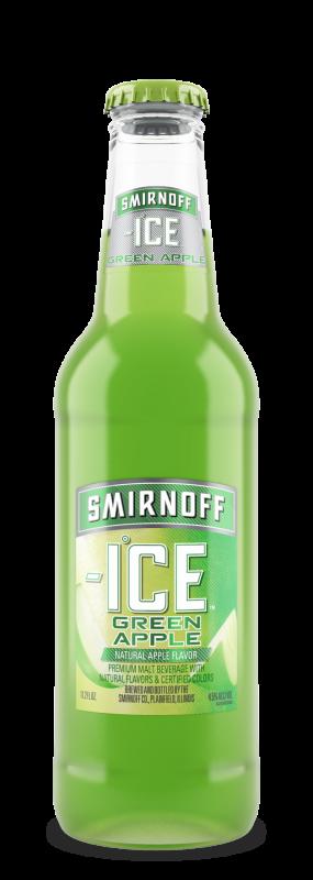 beer smirnoff ice green apple bills distributing