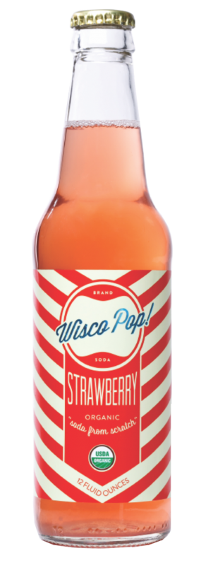Wisco Pop Strawberry Soda